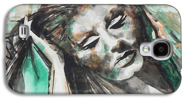 Adele Paintings Galaxy S4 Cases - Singer ADELE 01 Galaxy S4 Case by Chrisann Ellis
