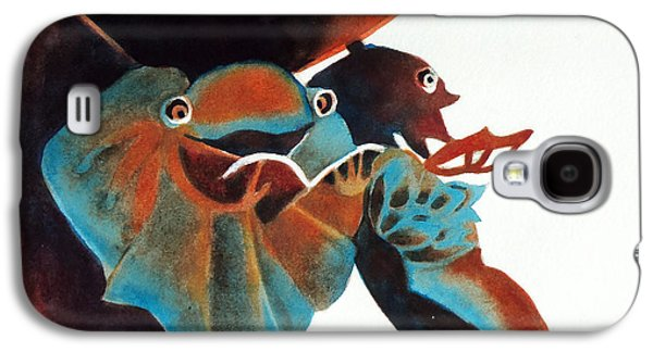 Abstracts Galaxy S4 Cases - Singing Frog Duet 2 Galaxy S4 Case by Kathy Braud