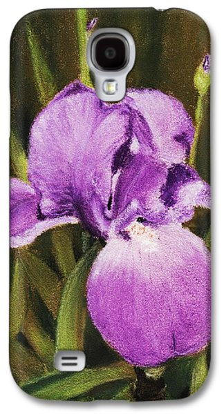Botanical Pastels Galaxy S4 Cases - Single Iris Galaxy S4 Case by Anastasiya Malakhova