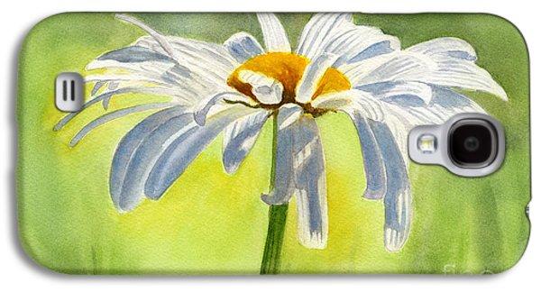 Single White Daisy Blossom Galaxy S4 Case by Sharon Freeman