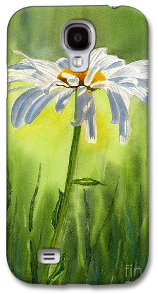 Single White Daisy  Galaxy S4 Case by Sharon Freeman