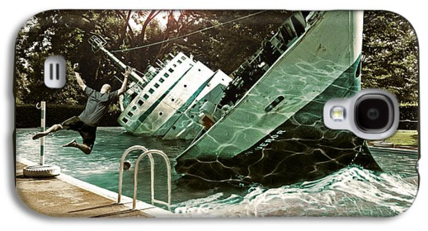 Photo Manipulation Mixed Media Galaxy S4 Cases - Sinking into the Pool Galaxy S4 Case by Marian Voicu