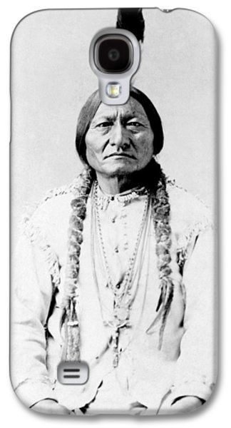 American Galaxy S4 Cases - Sioux Chief Sitting Bull Galaxy S4 Case by War Is Hell Store