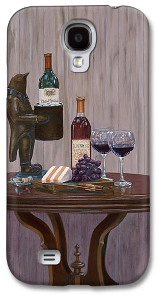 Wine Holder Galaxy S4 Cases - Sir Alfred Conway Quinn Esq. Galaxy S4 Case by Alice Betsy Stone