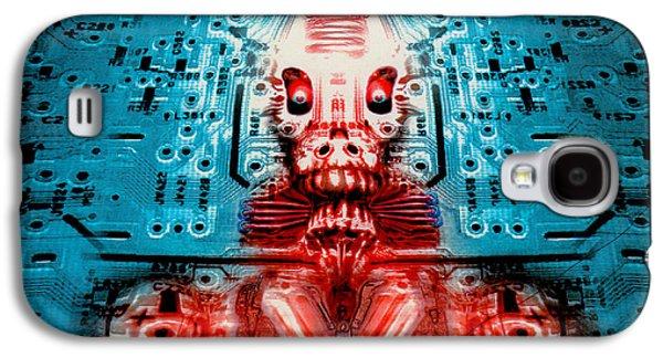 Creepy Galaxy S4 Cases - Sir Circuitys sartorial cybernetics Galaxy S4 Case by Del Gaizo
