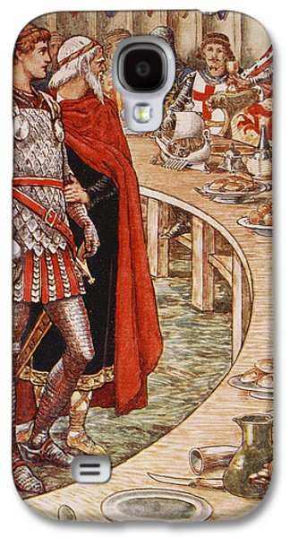 Knight Galaxy S4 Cases - Sir Galahad is brought to the Court of King Arthur Galaxy S4 Case by Walter Crane