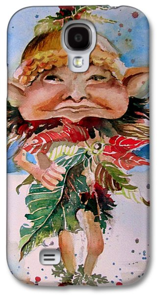 Pole Drawings Galaxy S4 Cases - Sir Kristopogin Holly Schmoozer Galaxy S4 Case by Mindy Newman