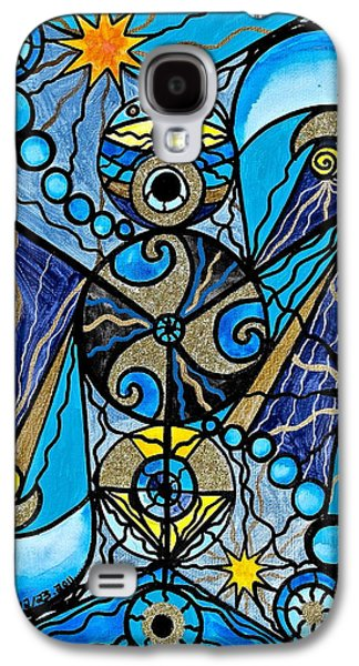 Geometry Paintings Galaxy S4 Cases - Sirius Galaxy S4 Case by Teal Eye  Print Store