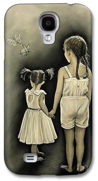 Sisters Drawings Galaxy S4 Cases - Sisters... Galaxy S4 Case by Anastasis  Anastasi