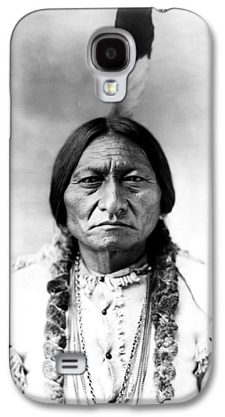 Americans Galaxy S4 Cases - Sitting Bull Galaxy S4 Case by Bill Cannon