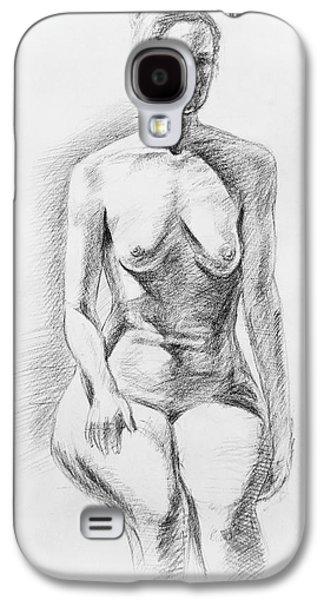 Head Drawings Galaxy S4 Cases - Sitting Model Study Galaxy S4 Case by Irina Sztukowski