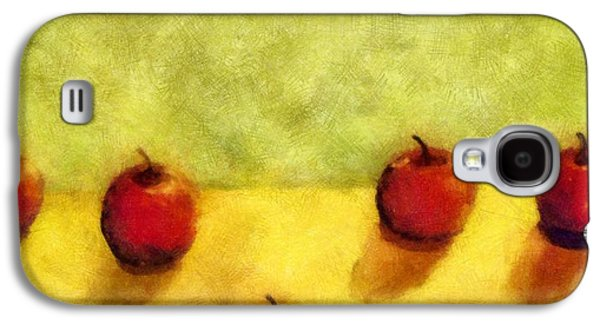 Apple Galaxy S4 Cases - Six Apples Galaxy S4 Case by Michelle Calkins
