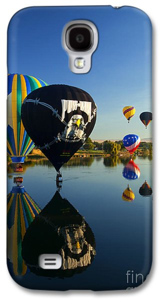 Hot Air Balloon Galaxy S4 Cases - Six on the Pond Galaxy S4 Case by Mike  Dawson