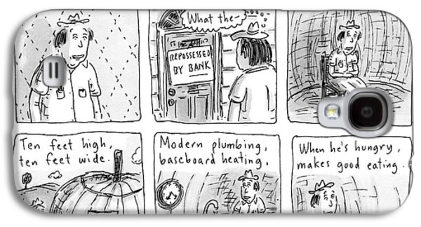 Six Rhyming Panels About A Man Who Moves Galaxy S4 Case by Roz Chast