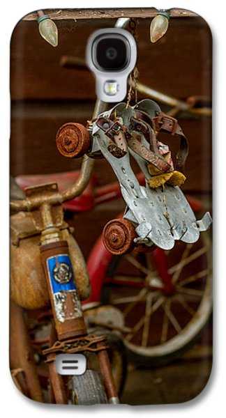 Antique Skates Galaxy S4 Cases - Skates And Bikes Galaxy S4 Case by Bill Gallagher