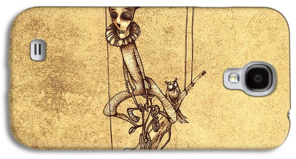 Scary Galaxy S4 Cases - Skeleton On Cycle Galaxy S4 Case by Autogiro Illustration