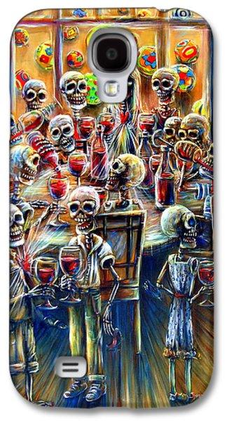 Skeleton Galaxy S4 Cases - Skeleton Wine Party Galaxy S4 Case by Heather Calderon