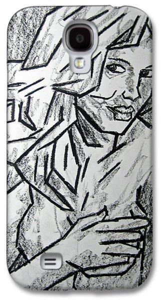 Person Pastels Galaxy S4 Cases - Sketch - Nude 2 2011 Series Galaxy S4 Case by Kamil Swiatek