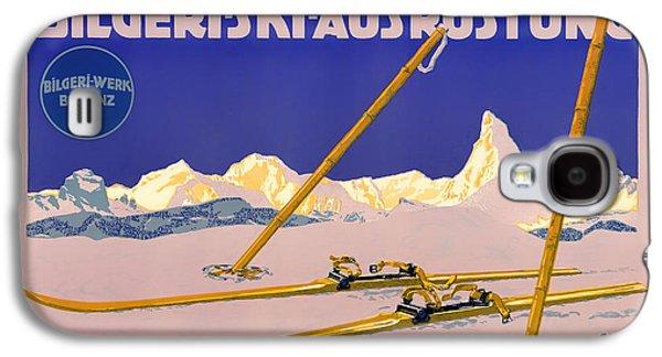 Austria Drawings Galaxy S4 Cases - Ski Austria 1910 Galaxy S4 Case by Mountain Dreams