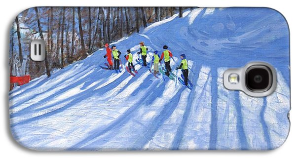 Sledge Galaxy S4 Cases - Ski lesson Galaxy S4 Case by Andrew Macara