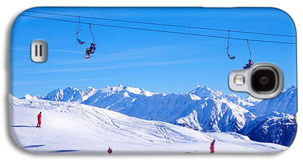 Sports Photographs Galaxy S4 Cases - Ski Lift In Mountains Switzerland Galaxy S4 Case by Panoramic Images