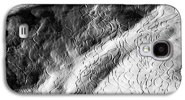 Abstract Forms Photographs Galaxy S4 Cases - Ski Traces Galaxy S4 Case by Frank Tschakert