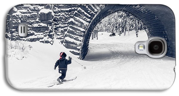 Crosses Photographs Galaxy S4 Cases - Skiing in Acadia National Park Galaxy S4 Case by Edward Fielding