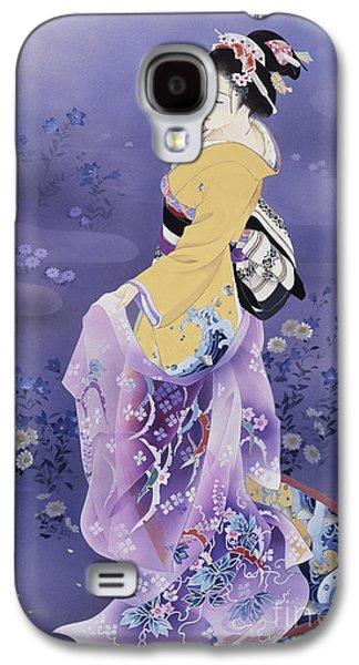 Display Galaxy S4 Cases - Skiyu Purple Robe Galaxy S4 Case by Haruyo Morita
