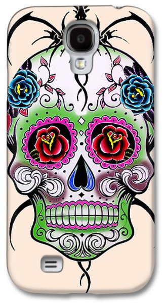 Animation Galaxy S4 Cases - Skull 11 Galaxy S4 Case by Mark Ashkenazi