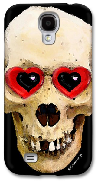 Skull Art - Day Of The Dead 2 Galaxy S4 Case by Sharon Cummings