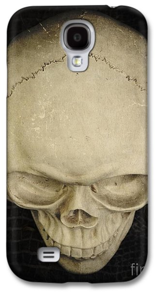 Creepy Galaxy S4 Cases - Skull Galaxy S4 Case by Edward Fielding