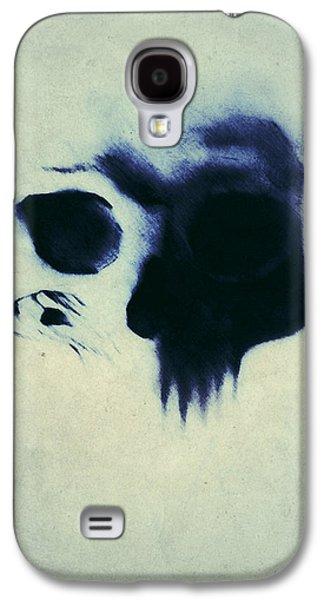 Drawing Mixed Media Galaxy S4 Cases - Skull Galaxy S4 Case by Nicklas Gustafsson