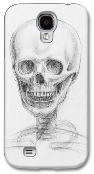 Head Drawings Galaxy S4 Cases - Skull Study Galaxy S4 Case by Irina Sztukowski