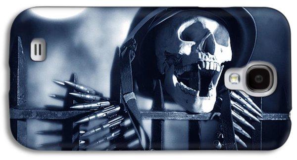 Ghastly Galaxy S4 Cases - Skull Galaxy S4 Case by Tony Cordoza