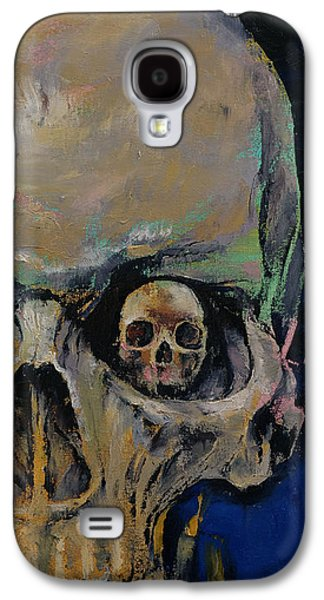 Trippy Paintings Galaxy S4 Cases - Vampire Galaxy S4 Case by Michael Creese