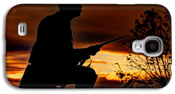 Yankee Division Galaxy S4 Cases - Sky Fire - 1st PA Cavalry Regiment-A1 Cemetery Ridge Near Copse of Trees Dawn Autumn Gettysburg Galaxy S4 Case by Michael Mazaika