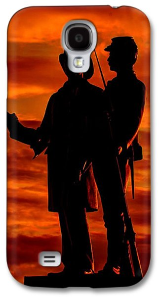 Yankee Division Galaxy S4 Cases - Sky Fire - 73rd NY Infantry Fourth Excelsior Second Fire Zouaves-B1 Sunrise Autumn Gettysburg Galaxy S4 Case by Michael Mazaika