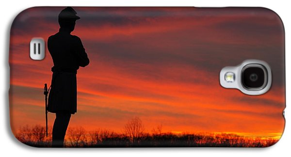 Yankee Division Galaxy S4 Cases - Sky Fire - AOTP 124th NY Infantry Orange Blossoms-2A Sickles Ave Devils Den Sunset Autumn Gettysburg Galaxy S4 Case by Michael Mazaika