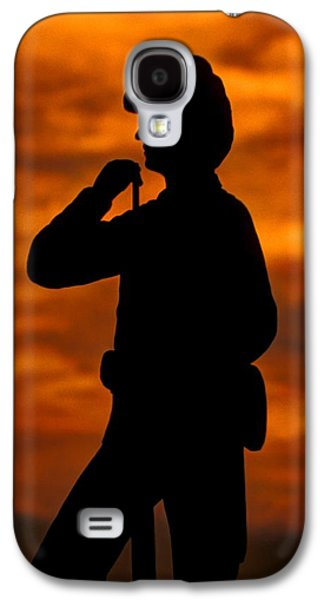 Yankee Division Galaxy S4 Cases - Sky Fire - Flames of Battle 7th Pennsylvania Reserve Volunteer Infantry-A1 Sunset Antietam Galaxy S4 Case by Michael Mazaika