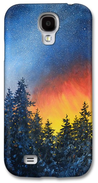 Milky Way Paintings Galaxy S4 Cases - Sky Fire Galaxy S4 Case by Richard De Wolfe