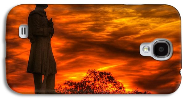 Yankee Division Galaxy S4 Cases - Sky Fire - West Virginia at Gettysburg - 7th WV Volunteer Infantry Vigilance on East Cemetery Hill Galaxy S4 Case by Michael Mazaika