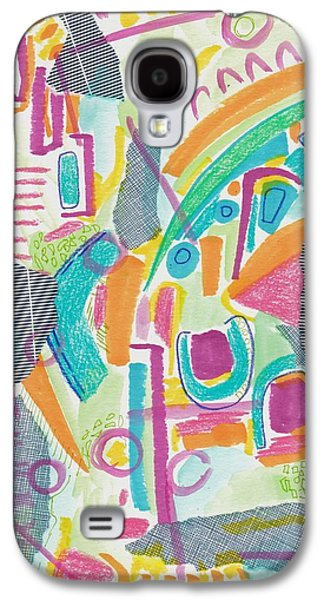 Abstract Collage Drawings Galaxy S4 Cases - Sky Music Galaxy S4 Case by Rosalina Bojadschijew
