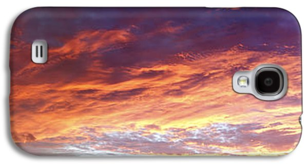 Nature Abstract Galaxy S4 Cases - Sky on fire Galaxy S4 Case by Les Cunliffe