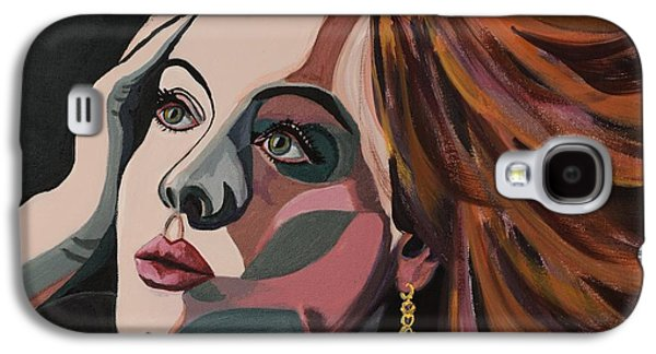 Adele Paintings Galaxy S4 Cases - Skyfall portrait crop Galaxy S4 Case by Christel  Roelandt