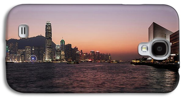 Skyline At Waterfront During Dusk Galaxy S4 Case by Panoramic Images