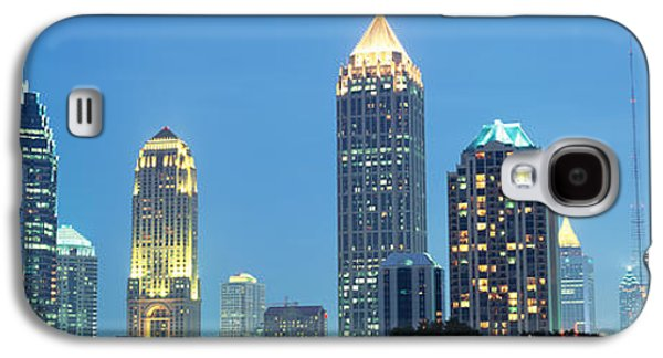 Glass Reflections Galaxy S4 Cases - Skyline Atlanta Ga Usa Galaxy S4 Case by Panoramic Images