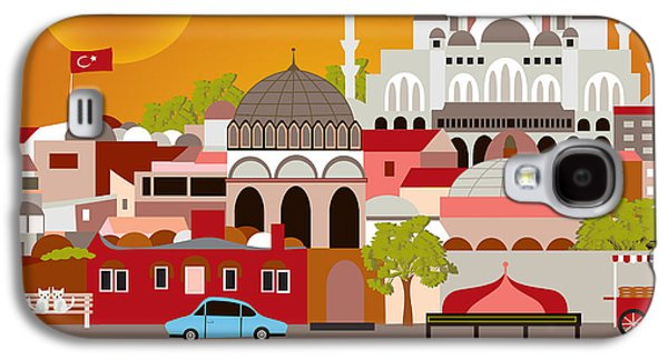 Istanbul Galaxy S4 Cases - Skyline Galaxy S4 Case by Karen Young