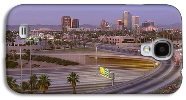 Merging Galaxy S4 Cases - Skyline Phoenix Az Usa Galaxy S4 Case by Panoramic Images