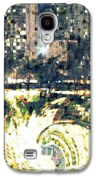 Interior Scene Mixed Media Galaxy S4 Cases - Skyscraper Reflection Painting Galaxy S4 Case by PainterArtist FIN