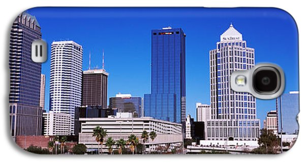 Built Structure Photographs Galaxy S4 Cases - Skyscrapers In A City, Tampa, Florida Galaxy S4 Case by Panoramic Images